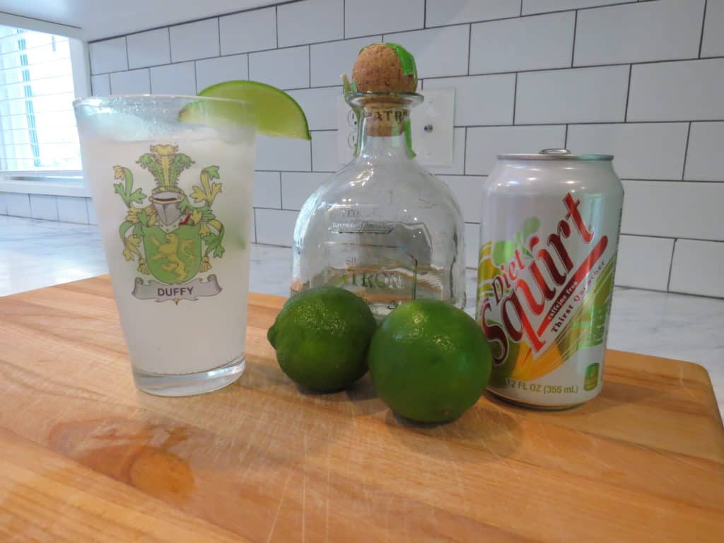 Here are the ingredients of a good Paloma; tequila, lime and squirt/diet squirt.