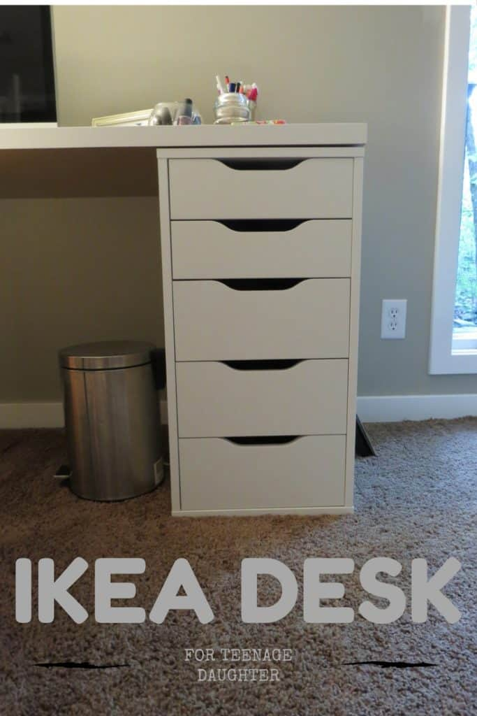 Ikea Desk with Alex 6 drawers, about 6 feet long