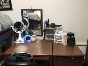 Desk/Vanity Organization for Dorm Living
