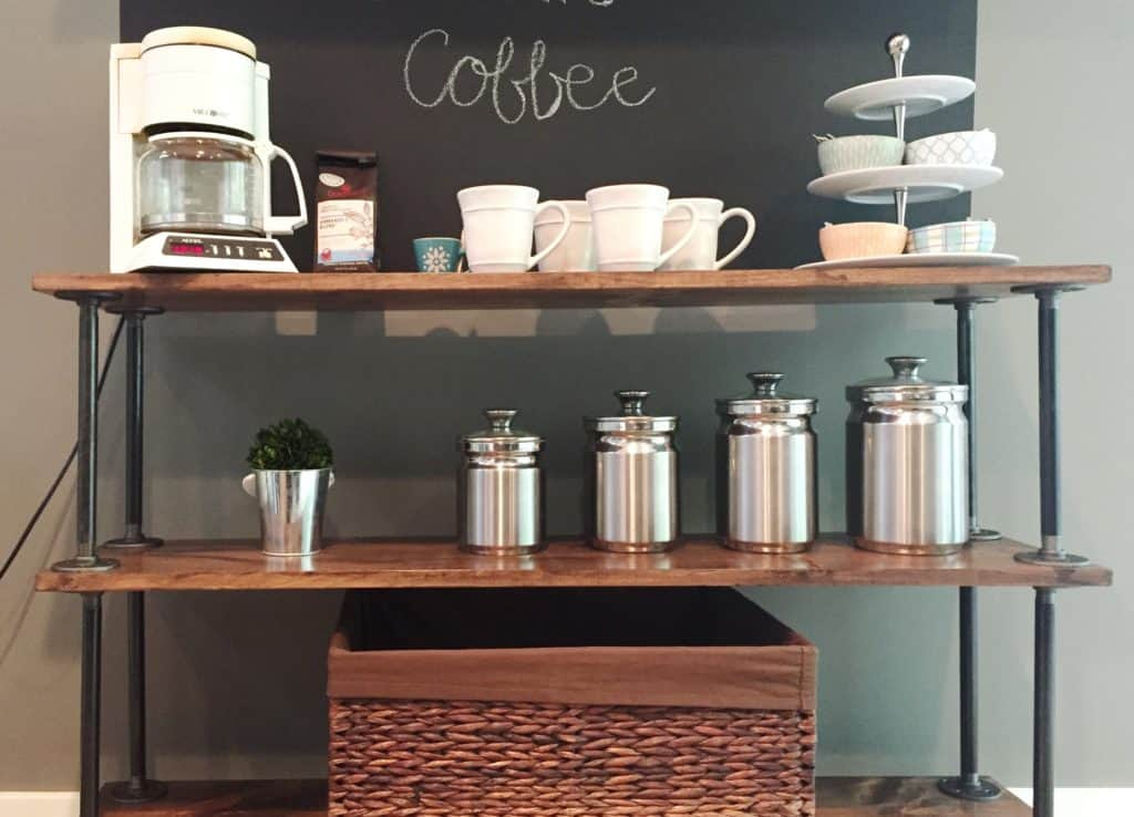 fixer upper inspired coffee bar
