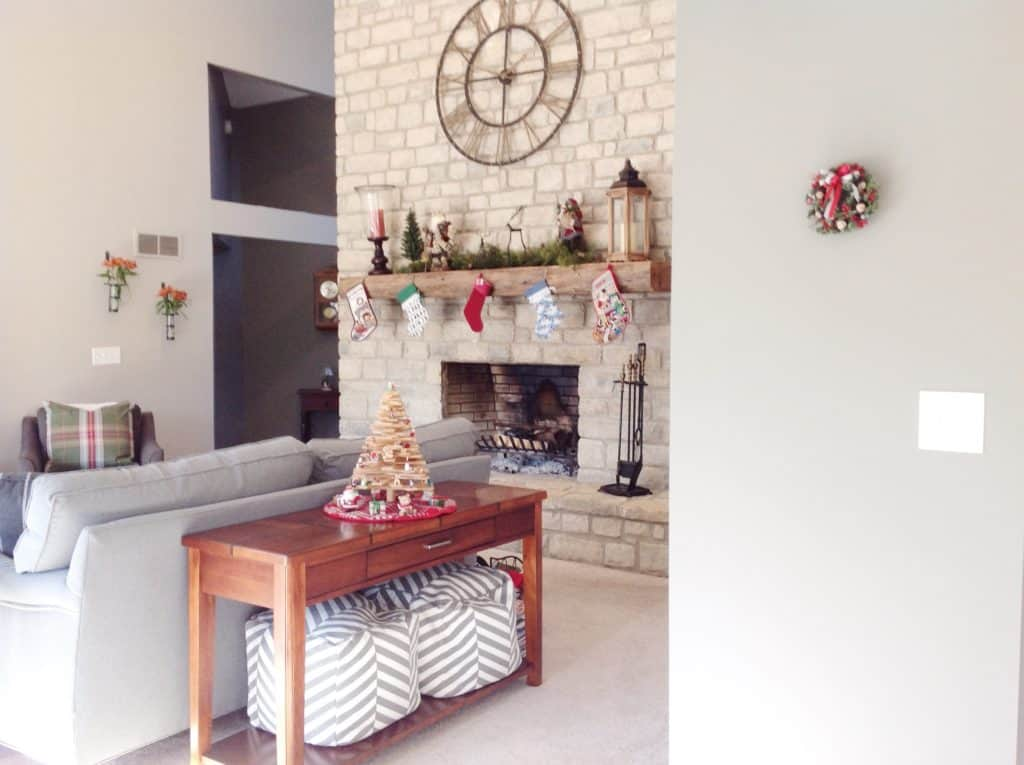 Rustic Christmas Family Room