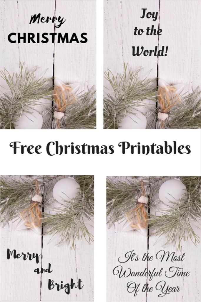 Free Chirstmas Printables