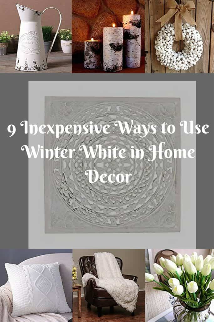 Winter White in Home Decor