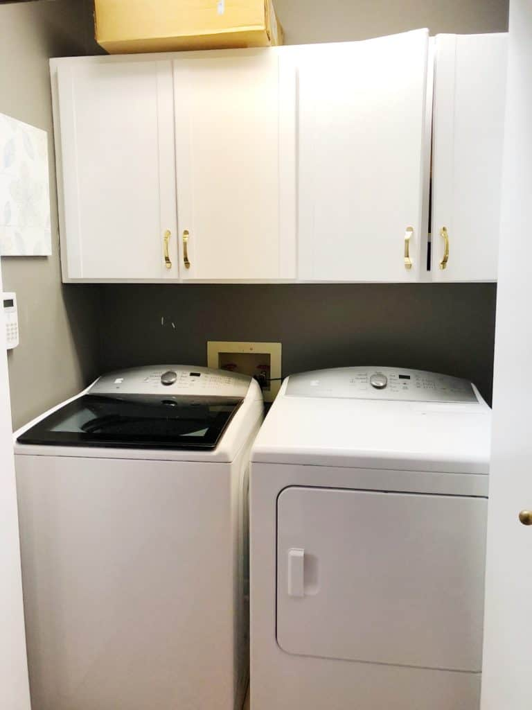 Laundry Room before picture.