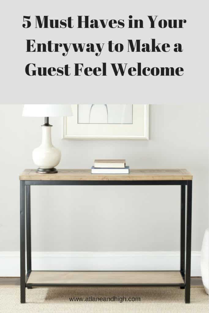 5 Must Haves in Entryway pin for Pinterest