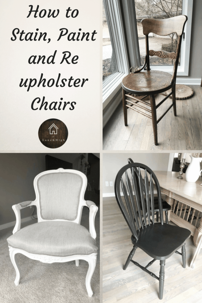 How To Stain An Antique Chair, How To Paint A Wood Chair, How To