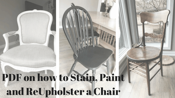 PDF on how to stain, paint and upholster a chair