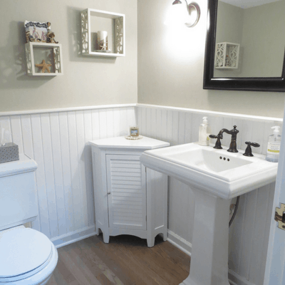 White Powder Room