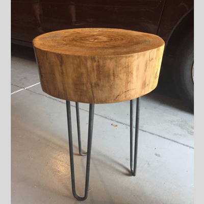 How to Build a Wood Stump Side Table