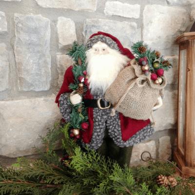 Rustic Christmas Family Room