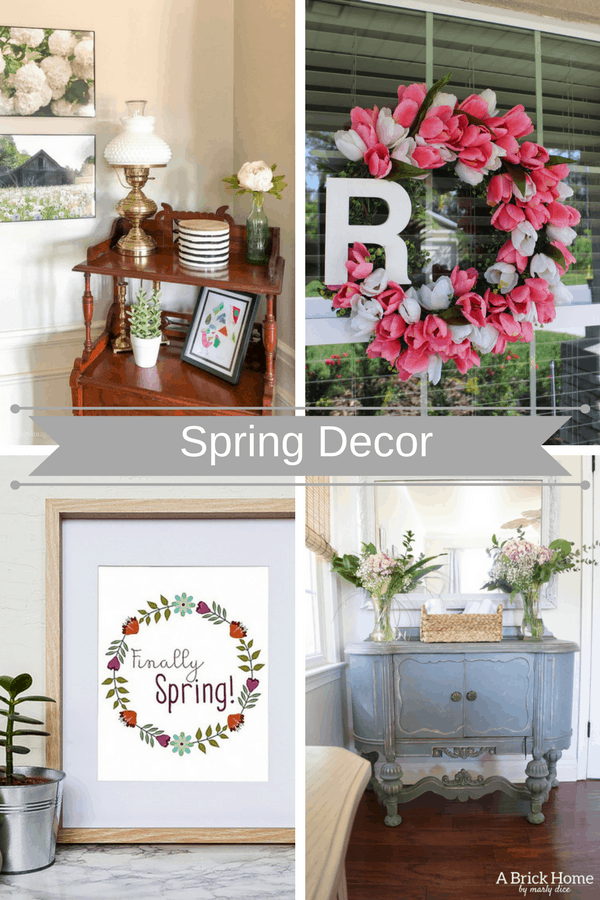 Spring is finally here! Well, at least the calendar says so! Mother Nature on the other hand is not on the same page this year. But regardless of what she is feeling it's time to start thinking of warmer weather and brightening our homes for Spring. I have put together 5 easy ways ideas to add Spring decor to your home.