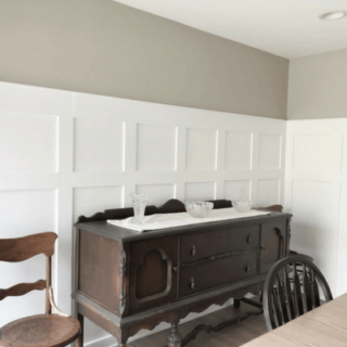 Today we are going over DIY Board and Batten in the Dining Room. After doing Board and Batten in the Stairwell I realized this was going to be quite a large project. Let's just say it did not disappoint! But man, what a difference it has made in the room. I think it looks FABULOUS!