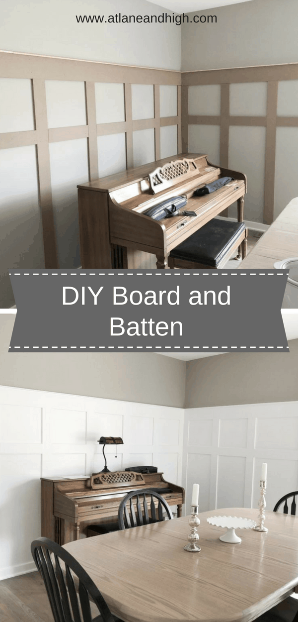 Pinterest pin for DIY Board and Batten