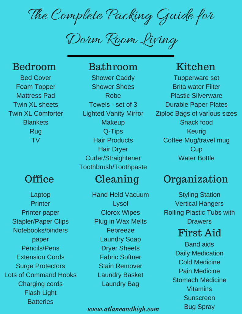 The Complete Packing Guide for Dorm Room Living