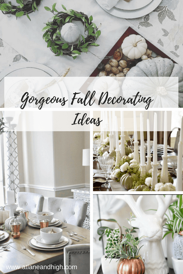 Fall Decorating Ideas pin for pinterest.