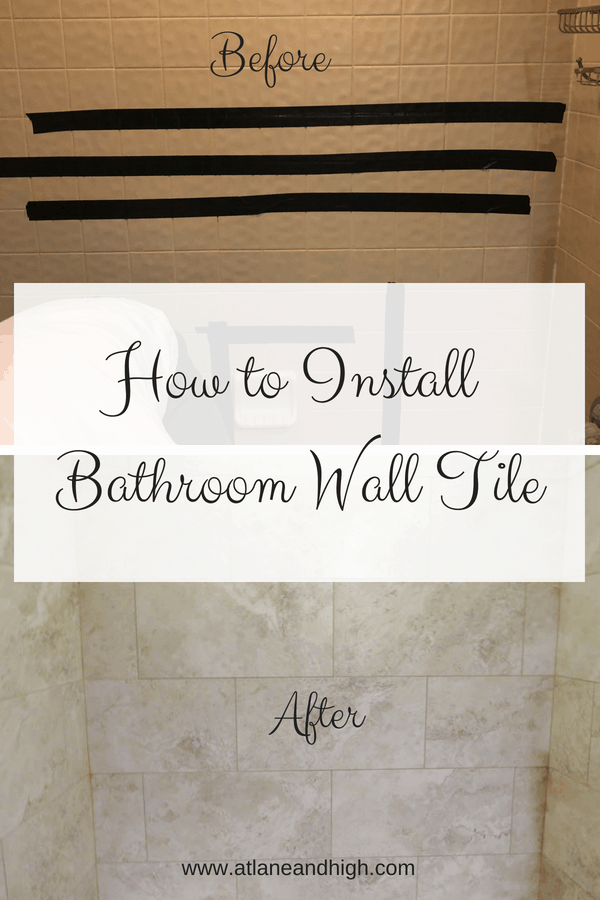 Come check out my latest DIY! We did a semi remodel in my daughters bathroom removing and installing new bathroom wall tiles. The old shower tile was pulling away and water was getting behind it. Now the shower tiles are modern and solid...no more water damage!