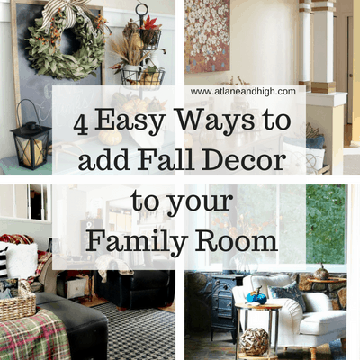 Today we are discussing 4 Easy Ways to add Fall Decor to your Family Room. I think my favorite way is to take cues from nature. Come check out my ideas and get inspired by some amazing examples of Fall decorating for your family room!