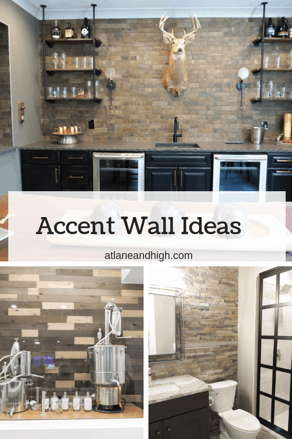 This is an example of different accent wall ideas.