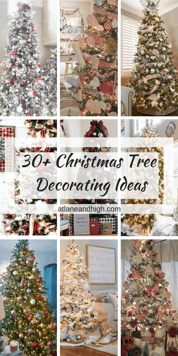 A collection of Christmas tree decorating ideas