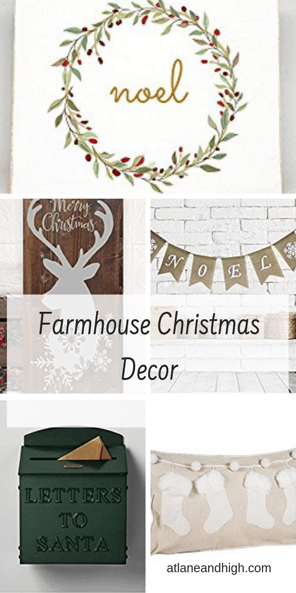Pin for the best farmhouse Christmas decor