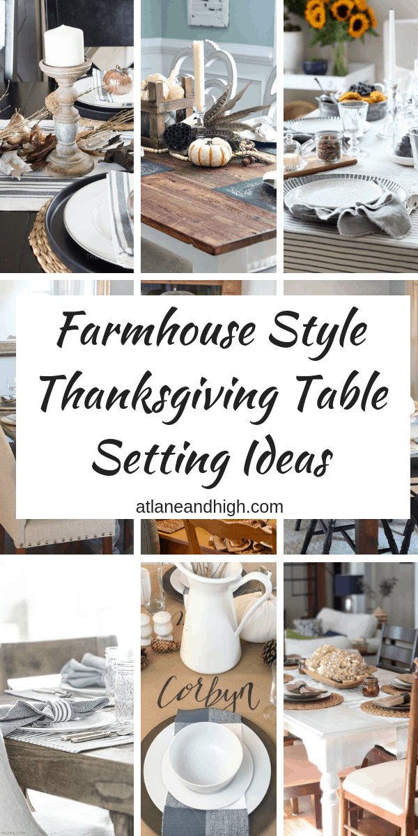 Farmhouse Style Thanksgiving Table Setting Ideas