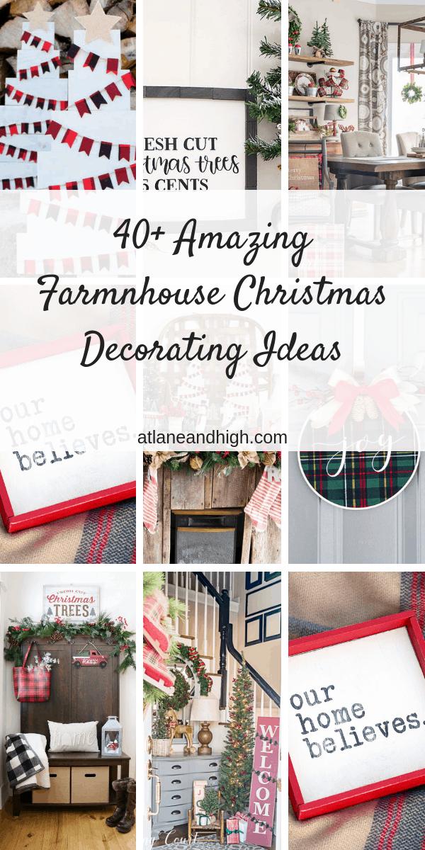 farmhouse christmas decor pin