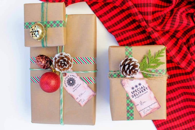 diy gift wrap ideas using dollar store finds