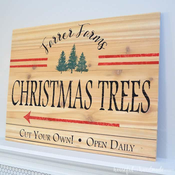 Farmhouse Christmas Decor, farmhouse christmas tree sign