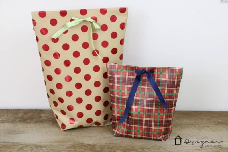 diy gift wrap ideas, making a gift bag from wrapping paper