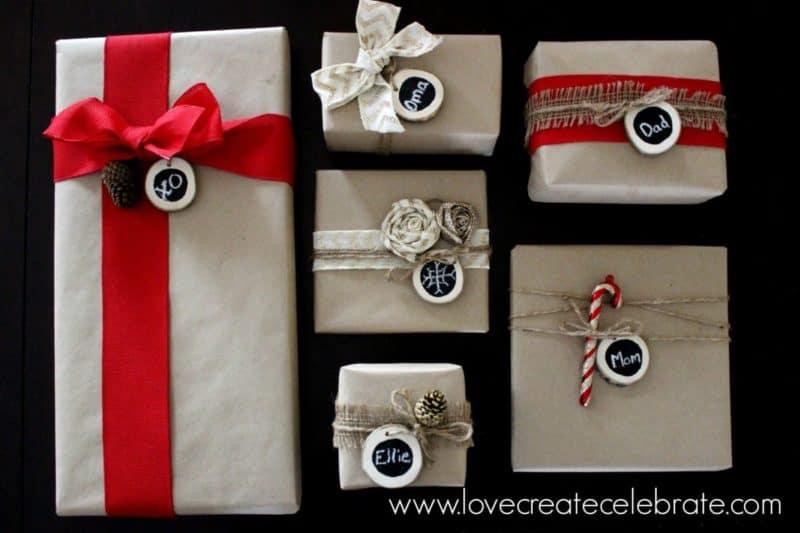 diy gift wrap ideas using burlap