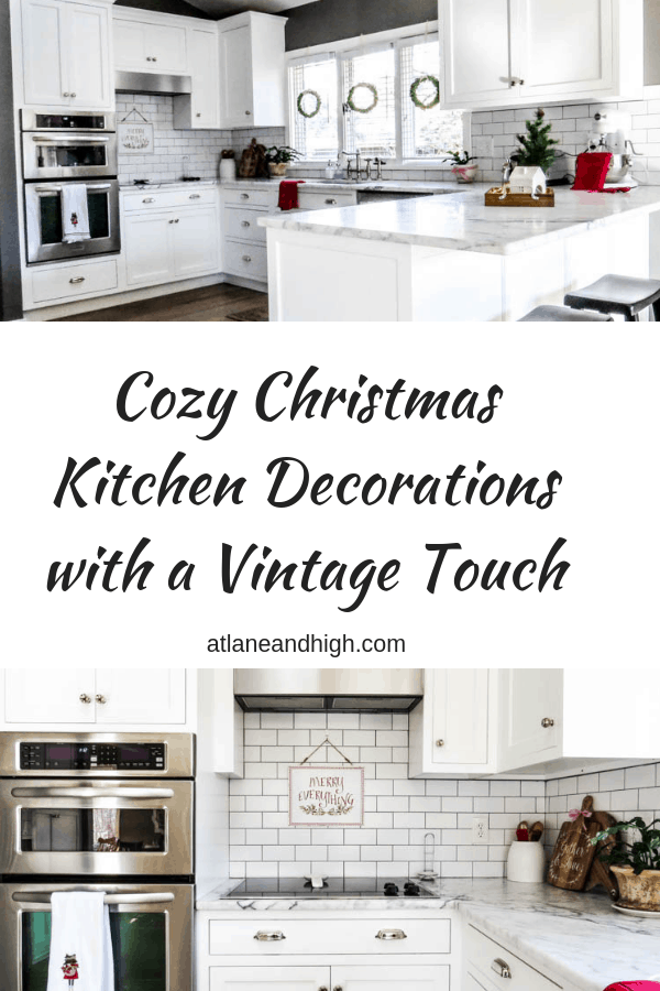 pin for vintage christmas kitchen decorations