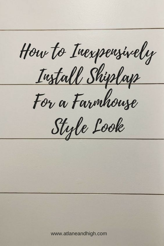 Pin for How to Inexpensively Install Shiplap