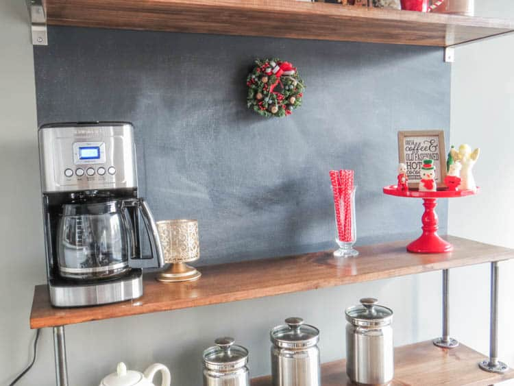 Full View of the Christmas Coffee Bar.