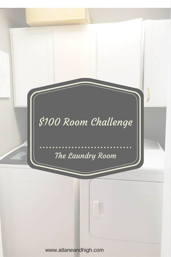 Week 1 of $100 Room Challenge The farmhouse laundry room pin