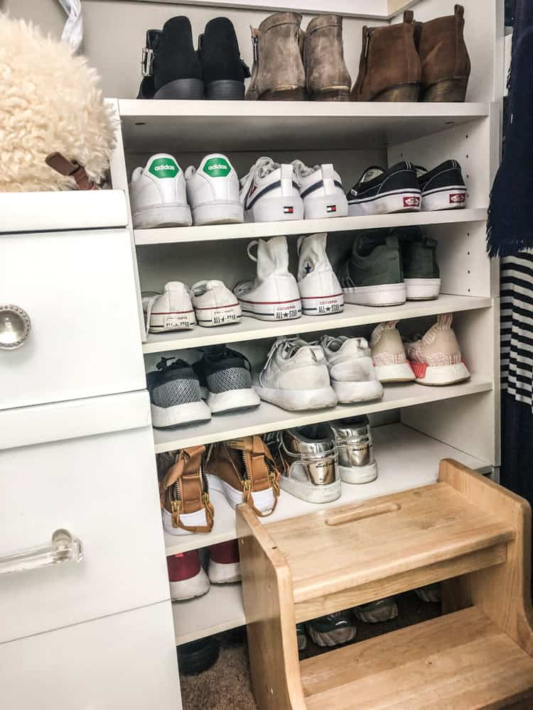Closet Organization for shoes!