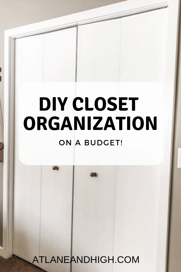 closet organization pin for pinterest