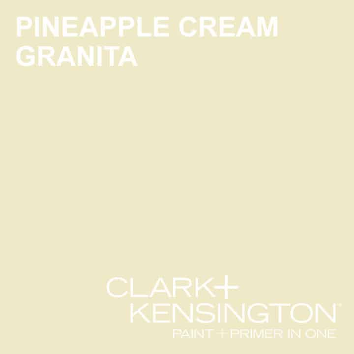 Clark and Kensington paint color of the year, pineapple cream granita.