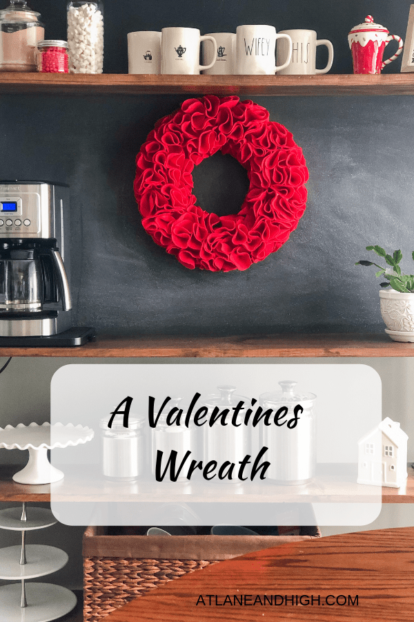A Valentines Wreath Pin