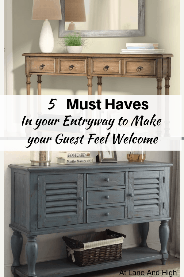 How to make your Entryway feel welcoming pin.