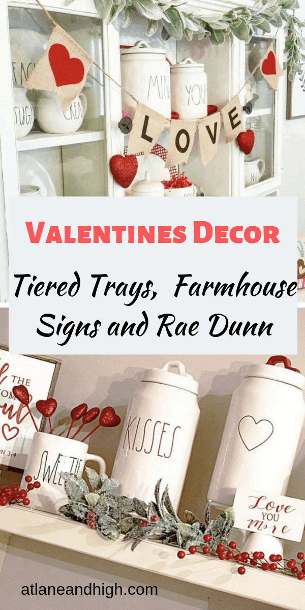 Valentines Decor pin for Pinterest.