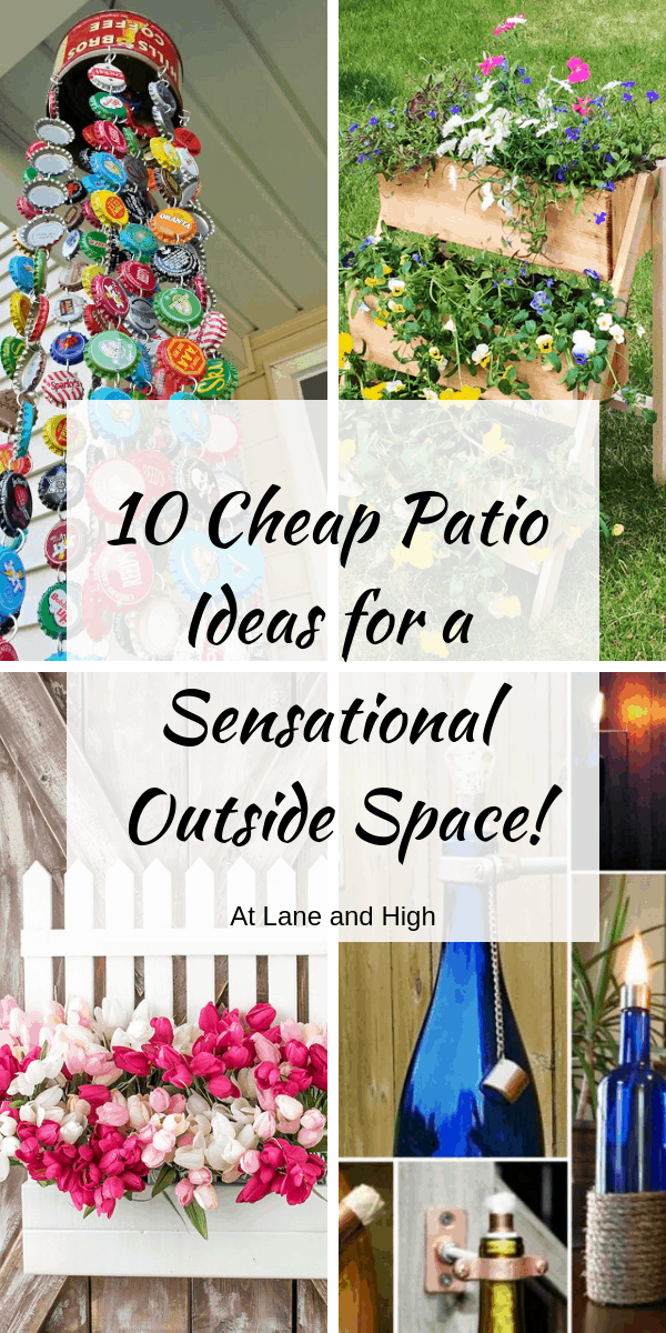 Cheap Patio Ideas Pin for Pinterest