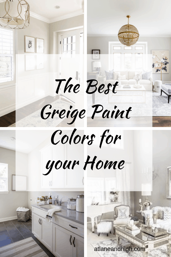 The Best Greige Paint colors pin