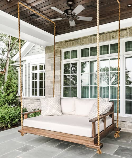 A porch swing that is big enough to sleep on!