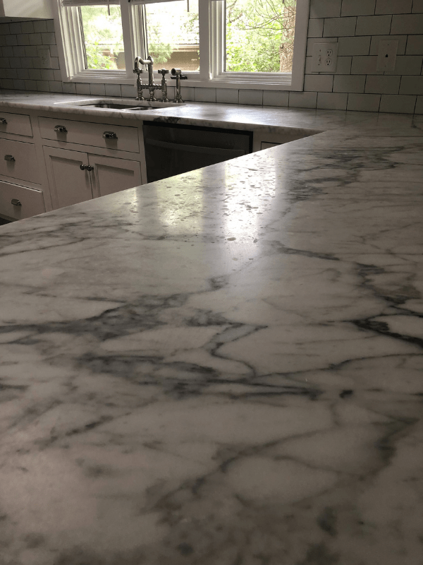 Another before shot of the marks in my marble counters.