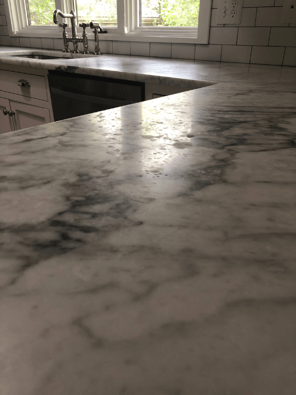 The before shot of the marks in my marble counters.