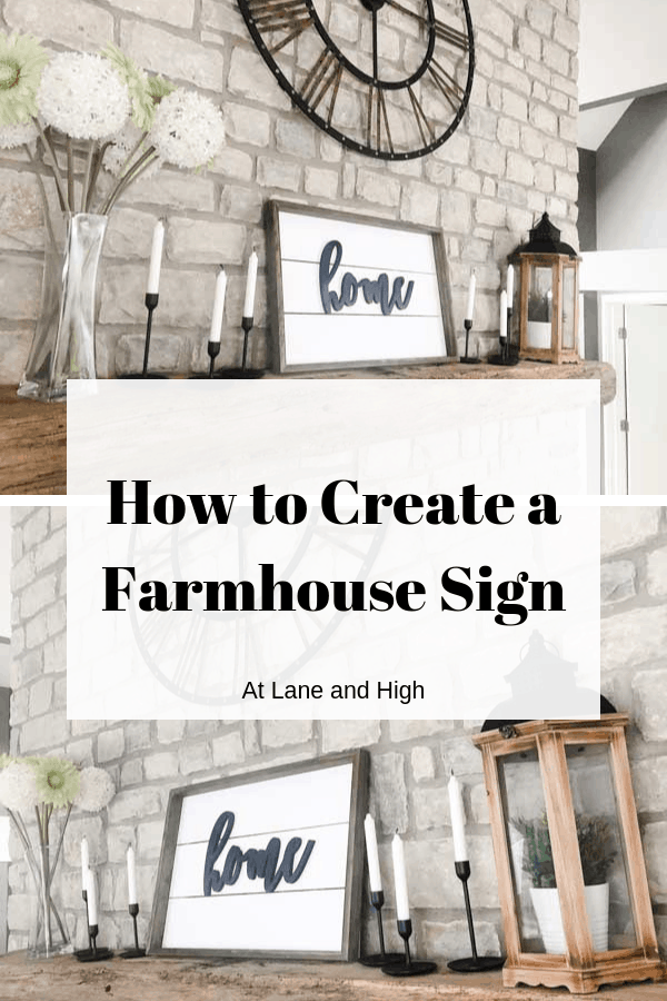 Farmhouse sign pin for Pinterest