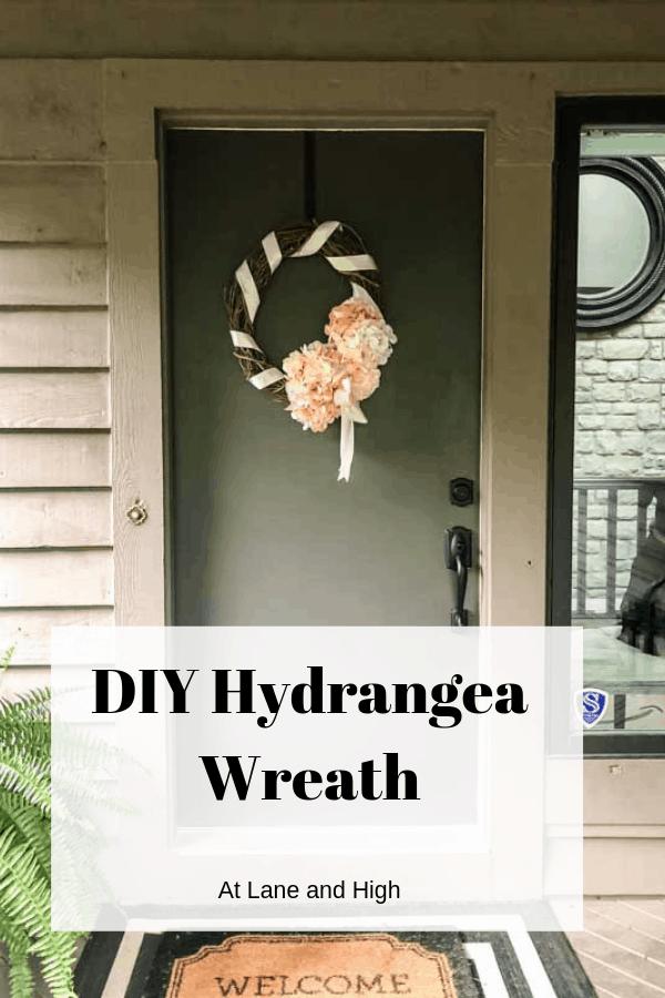 Hydrangea Wreath pin for Pinterest