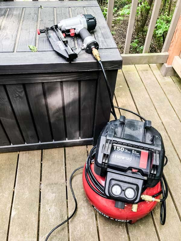 My nail gun that I used to connect the wood on the rustic frames.
