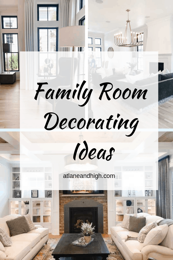 Family Room Decorating Ideas pin for pinterest.