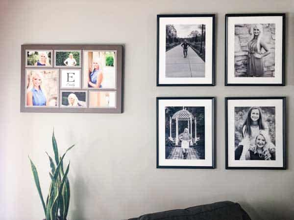 This is a view of the left side, the black and whites and my oldest daughter's senior pictures.